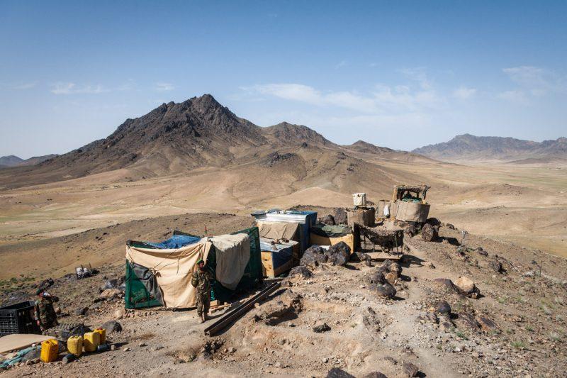 Die Versorgung von diesem Außenposten der afghanischen Armee in Naw Zad gestaltet sich schwierig. (c) Simon Klingert