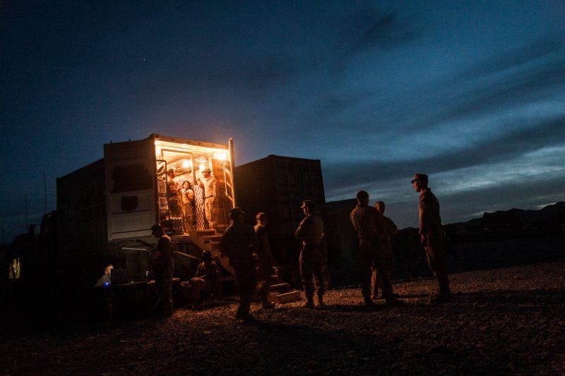 Mobiler PX-Shop auf einer Basis der US-Marines in Helmand. (c) Simon Klingert