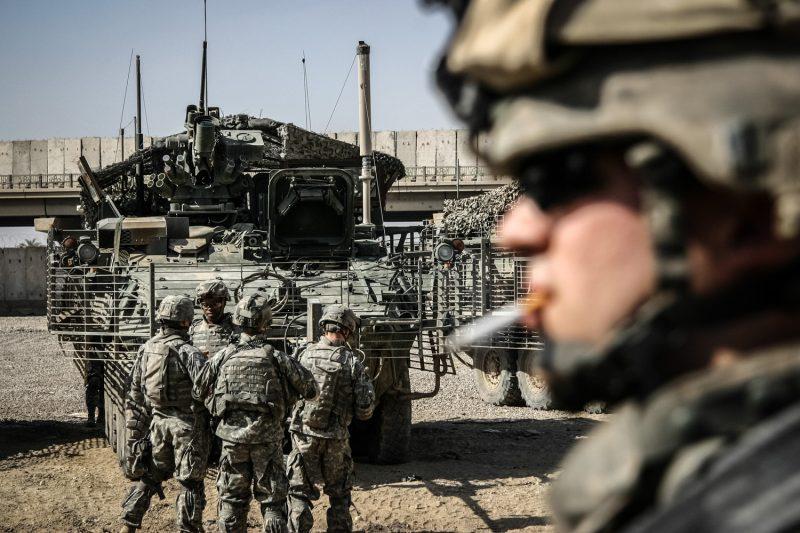 Soldaten des 2. Kavallerieregiments der US-Armee versammeln sich auf dem Combat Outpost 828 in Bagdad. (c) Simon Klingert