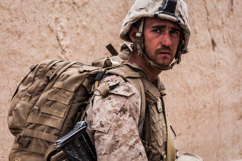 US-Marine während einer Militäroperation bei Musa Qala in Helmand, Afghanistan. (c) Simon Klingert