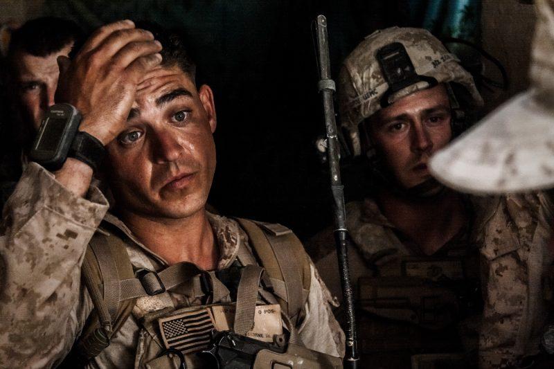 US-Marines stoßen auf Schwierigkeiten bei der Durchführung der Operation Rocky Point in Helmand, Afghanistan. (c) Simon Klingert