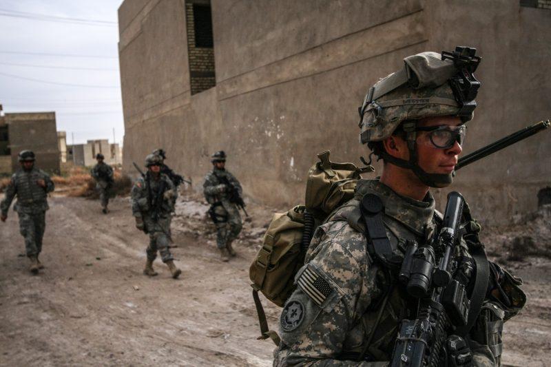 US-Soldaten auf Patrouille in Bagdad. (c) Simon Klingert