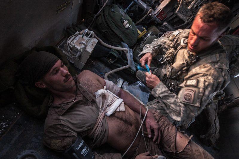 Lowder wurde im Gefecht von einem Taliban-Heckenschützen verwundet. (c) Simon Klingert
